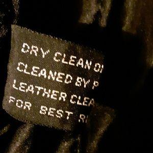 Xl mens fine leather jacket dark brown